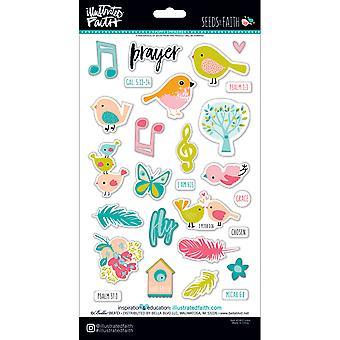 Illustrated Faith Seeds Of Faith Puffy Stickers-Icons SOF1463