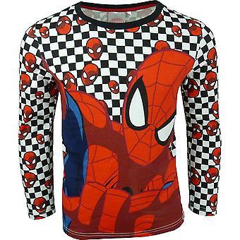 Garçons s'émerveiller à manches longues Spiderman \ Top