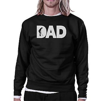 Dad Golf Unisex Black Sweatshirt Funny Graphic Tee For Gold Dads