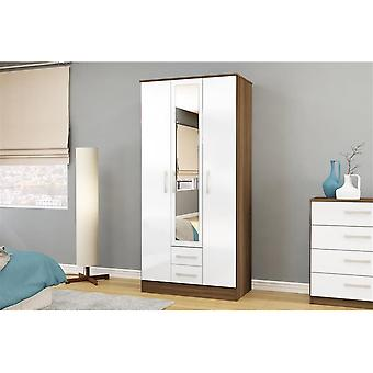 Birlea Lynx 3 Door 2 Drw/mirror White