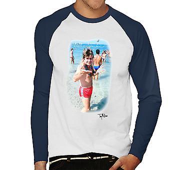 Ozzy Osbourne On The Beach Men's Baseball Long Sleeved T-Shirt