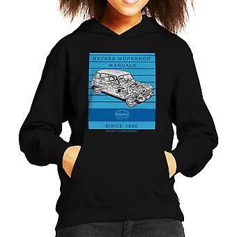 Haynes Workshop Manual 0072 Renault 4 Stripe Kid's Hooded Sweatshirt