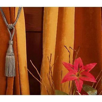 Paar - grau dekorative handgefertigte Raffhalter / Tassel / Vorhang Holdback