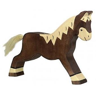 Goki Horse, running, dark brown (Toys , Dolls And Accesories , Miniature Toys , Animals)