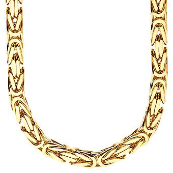 Sterling 925 Silver King chain - DOTTE 8x8mm gold