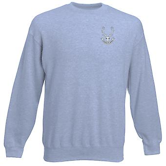 Seaforth Highlanders broderad Logo - officiella brittiska armén Heavyweight tröja