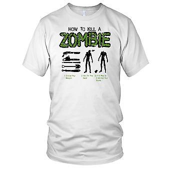Hvordan å drepe en Zombie Mens T skjorte