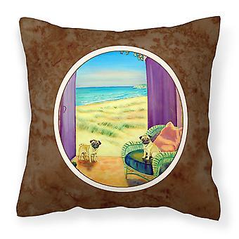 Carolines Treasures  7183PW1414 Pug Fabric Decorative Pillow