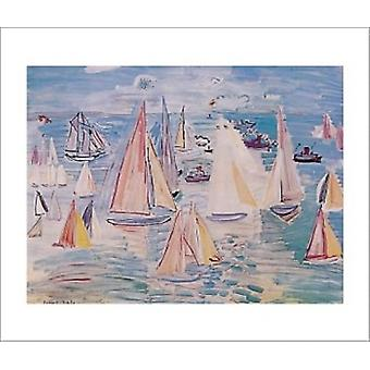 Regatta Poster Poster Print by Raoul Dufy