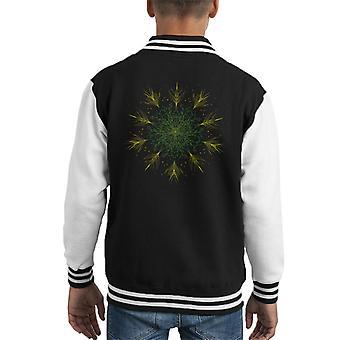 Floral Mandala Kid's Varsity Jacket