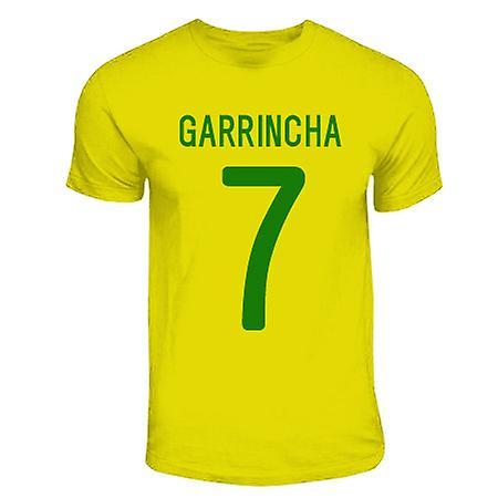 Garrincha Brazilië Hero T-shirt (geel)