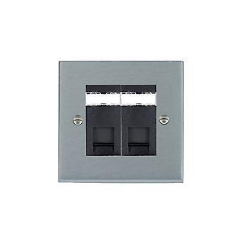 Hamilton Litestat Cheriton Victorian cetim cromo 2G RJ12 Outlet-Unshield BL