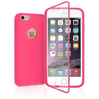 Yousave Accessories Iphone 6 And 6s TPU Silicone Flip Case - Solid Pink