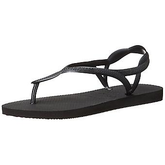 Havaianas Womens Luna Rubber Open Toe Beach Slide Sandals