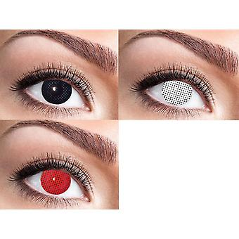 Net screen contact lenses