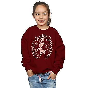 Disney Girls Bambi Christmas Wreath Sweatshirt