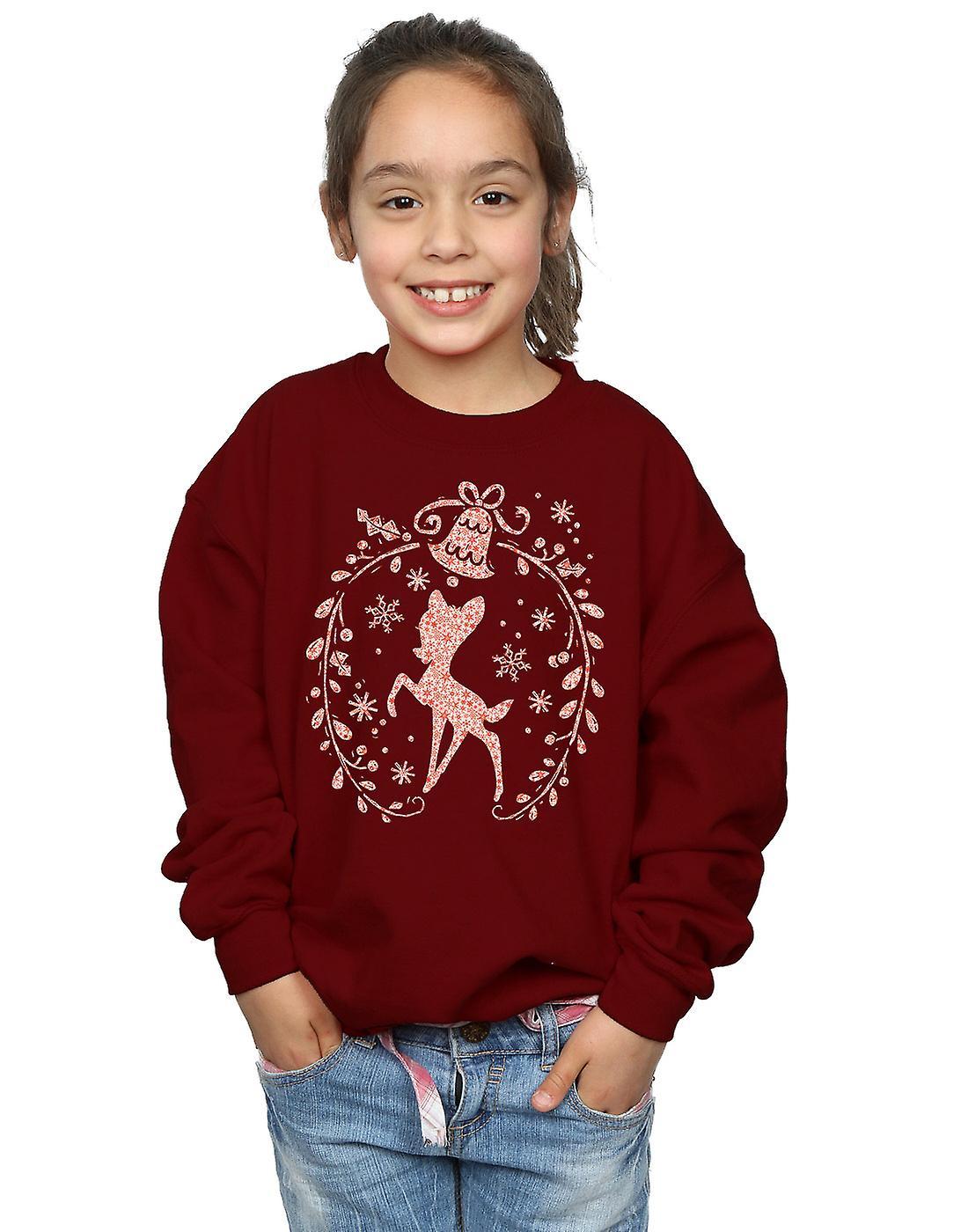 Disney meisjes Bambi kerst krans Sweatshirt