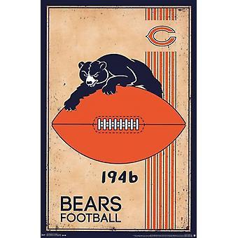 Chicago Bears - Retro Logo 14 Poster Print