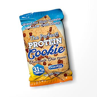 Quamtrax Nutrition Bar Protein Cookies Chocolate  Chip 24 Unidades