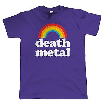 Death Metal Rainbow, Mens Funny Rock Music T Shirt