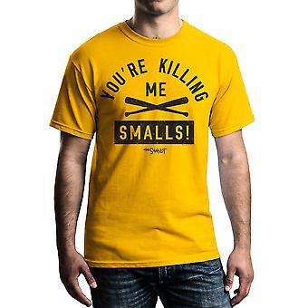 Sandlot krydsede flagermus mænds guld T-shirt