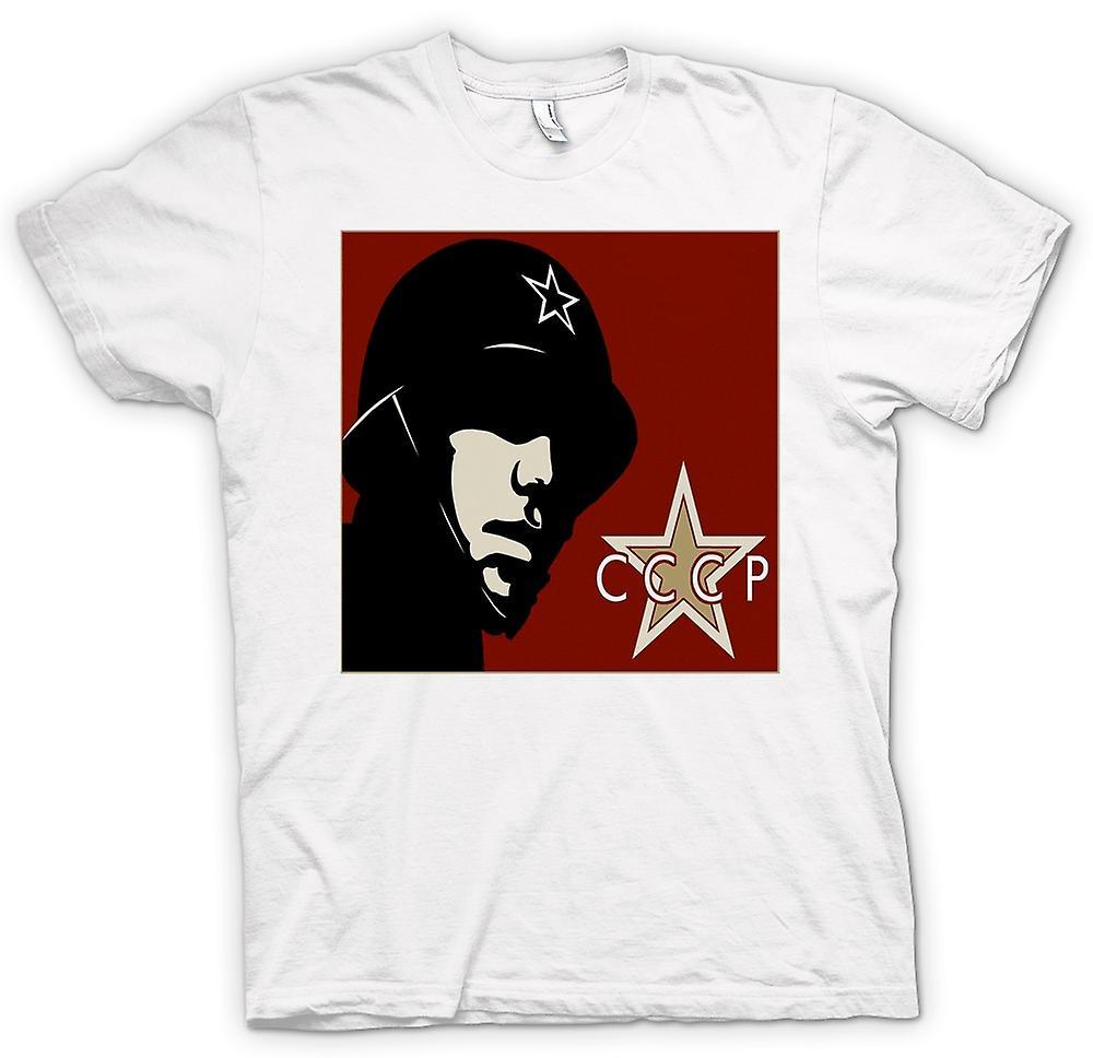 Womens T-shirt - CCCP Russisch - Propaganda Poster