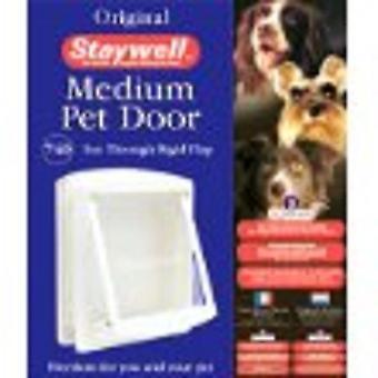 Staywell Original puerta mediana para perro y gato blanco 740