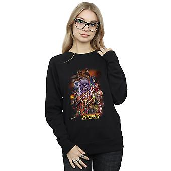 Marvel Women's Avengers Infinity War Character Poster Sweatshirt