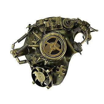 Metallisches Gold Pfennigabsatz Steampunk Phantom Kostüm Maske