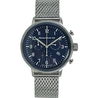 Aristo Messerschmitt mens watch Chrono Fliegeruhr ME108-80 M Milanaiseband