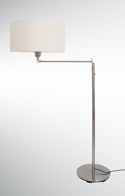 Design floor lamp with white Lampshade, 164 cm, Kaja FL, 10409