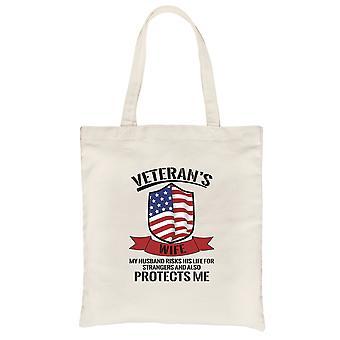 Veteranen Frau Canvas Tasche schwere Baumwolle Umhängetasche Geschenk