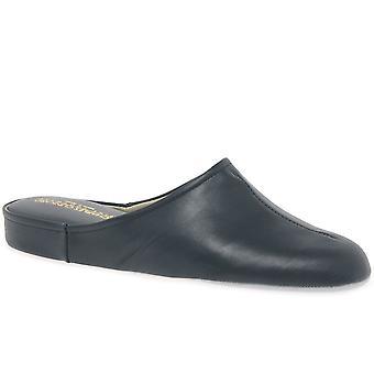 Relax Slippers Gavin Black Leather Slippers