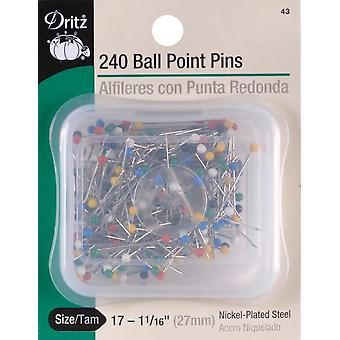 Dritz Color Ball Point Pins 1-1/16