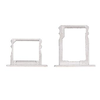 For Huawei P8 Double SIM Card Tray - Silver