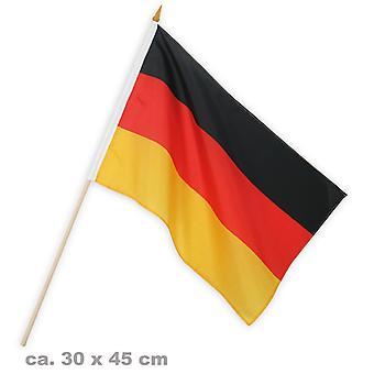 Flagg fan 30x45cm Tyskland fotballfest