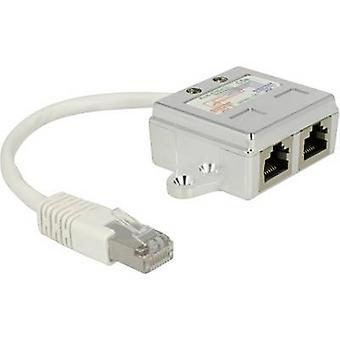Delock RJ45 Networks Adapter CAT 5 [1x RJ45 plug - 2x RJ45 socket] 0.15 m White