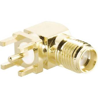 SMA reverse polarity connector Socket, horizontal mount 50 Ω BKL Electronic 0419013 1 pc(s)