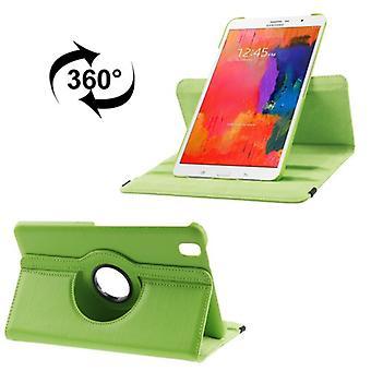 PU dekking lade ash (flip Kruis) voor Samsung Galaxy tab Pro 8.4 / T320 groen
