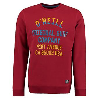 ONeill Sun-Dried Tomato Patch Logo Crew Sweater