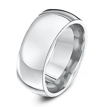 Star Wedding Rings 9ct White Gold Heavy Court Shape 9mm Wedding Ring
