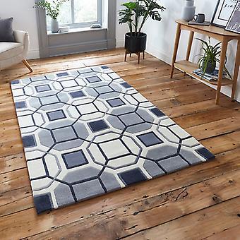 Tapijten - Hong Kong Hexagon - HK9238 ivoor / Grey
