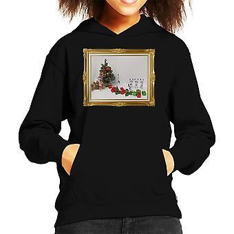 Original Stormtrooper Christmas Tree Death Slide Kid's Hooded Sweatshirt