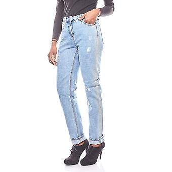 Aniston ladies of jeans in light used look light blue