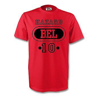 Eden Hazard Belgien Bel T-shirt (rot) - Kids
