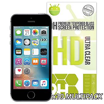 10 Pack of Glass Screen Protectors - iPhone 5/5C/5S/SE
