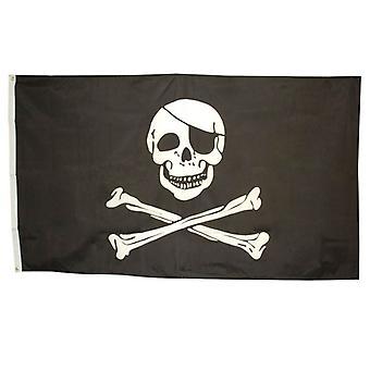 Skull & Crossbones flag 3' x 5'.
