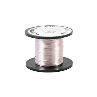 1 x sølv belagte kobber 0,6 mm x 10 m runde håndværk Wire spole W2060