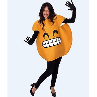 Laughing emoticon smilie Smiliekostüm costume one size