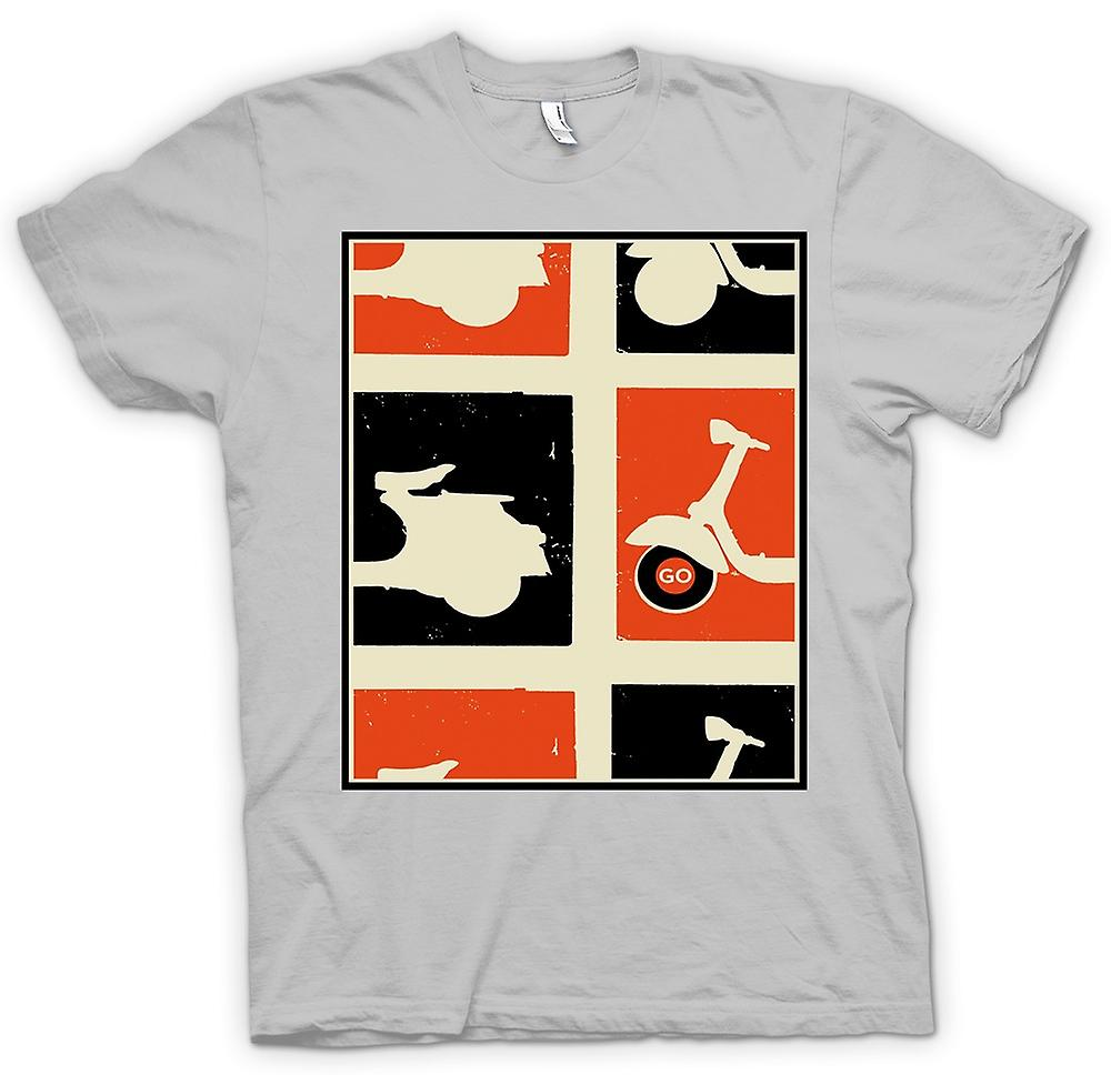 Mens T-shirt - Vespa Scooter - Pop Art affisch gå